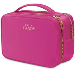Prada Candy Parfums Makeup Cosmetic Pink Bag Case Clutch New In Box Double Zip $29.99