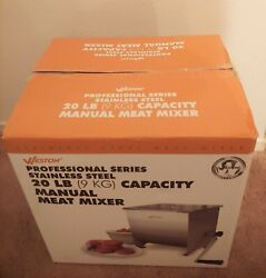 Weston Meat Mixer Manual 20 Lb Capacity Slip Resistant Stainless Steel 36-1901-w