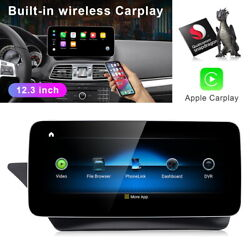 12.3 Android Car Gps Navi Radio Stereo For Mercedes Benz E Class Coupe W207