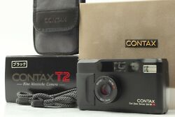 [mint In Box] Contax T2 Limited Black 35mm Point And Shoot Film Camera From Japan