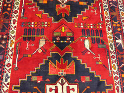 5and039x12and0399 Authentic Handmade Wool Birds Oriental Antique Gallery Area Rug Runner