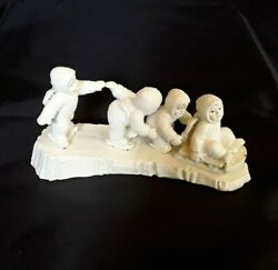 Department 56 Snowbabies Pewter Miniatures I'm Right Behind You 7662-7