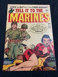 Tell It To The Marines 2 1953 Golden Age 1952 Toby Press 3 On Census Rare