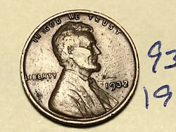 1932-p 1c Lincoln Cent Wheat Penny 9345k