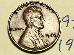 1932-p 1c Lincoln Cent Wheat Penny 9306k