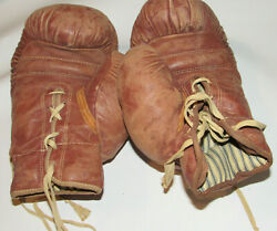 Vintage Wilson Leather Boxing Gloves H1190-14 14 Oz Lace-up Made In Usa