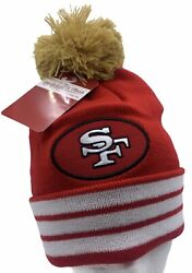 San Francisco 49ers Stocking Cap Winter Knit Hat Beanie Big Time Mitchell And Ness