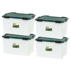 Large Storage Container Plastic Tote Box Stackable Organizer Bin Locking Lid New
