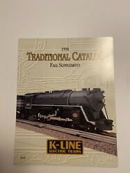 K LINE ELECTRIC TRAINS O 1996 TRADITIONAL CATALOG FALL SUPPLEMENT CATALOG MINT