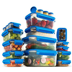 Airtight 20 Container Food Storage Set Storing, Freezing And Reheating Bpa Free