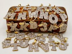 9ct Gold Letter Initial Pendants Name Charm + Curb Belcher Box Chain Necklace