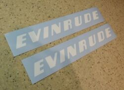 Evinrude Vintage Outboard Motor Decal 9 White Free Ship + Free Fish Decal