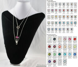 Ladies Slide Chain Necklaces Fancy Links Small Round Slide Accent And Options
