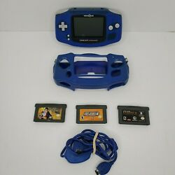 Toys R Us Gameboy Advance Blue Bundle Tested 100 Authentic And Working+ 3 Games