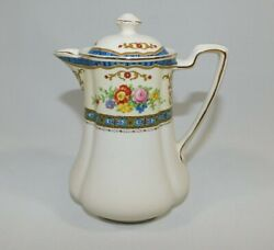 Vintage Johnson Brothers Pareek Chocolate Hot Water Pot Blue Pink Floral 5.5