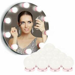 LED Vanity Mirror Lights Hollywood Style 10 Dimmable LED Bulbs Kit DIY