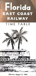 Florida East Coast Railway Timetables 2 1965 Operated Under Strike Conditions