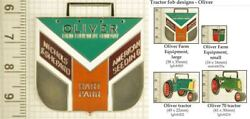 Oliver Farm Equipment Decorative Fobs, Various Designs And Keychain Options