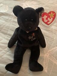 Rare The End Beanie Baby Bear With Tag Error - Excellent Condition 0008421042654