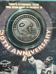 Chicago Bears 20th Anniversary Commerative Coin