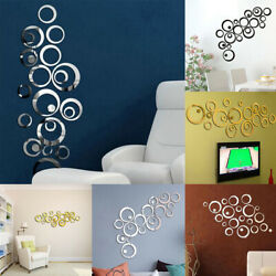 DIY Gift 3D Modern Bedroom Removable Home Decor Living Room Circle Wall Sticker