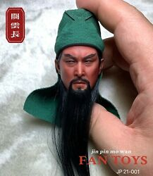 Fantoys 1/6 Three Kingdoms Guan Yunchang Head Sculpt Fit 12and039and039 Male Figure Body