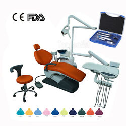 Dental Complex Therapy Chair Computer Controlled W/ Doctor Stool+m4 Handpiecekit