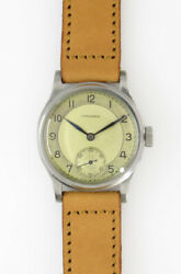 Longines Small Second 2116170 Manual Winiding Vintage Watch 1940and039s Overhauled