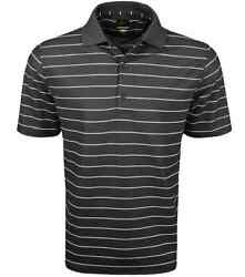 New Greg Norman Golf- Play Dry� Performance Striped Mesh Polo Shingle/white Md