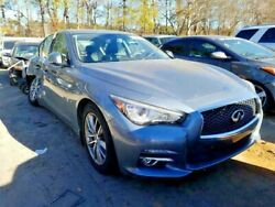 2014-19 Infiniti Q50 Rt Front Door With Palm Size Damage Under Handle Blue