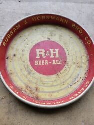 Vintage/antique Randh Rubsam And Horrmann Beer Ale Metal Tray Staten Island Ny Canco