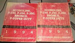 Set Of 3 1994 Ford Truck F150 250 350 S Duty 2wd 4wd Service Manuals Gas Diesel
