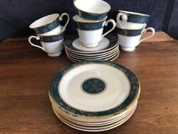 Vintage Royal Doulton Carlyle, 6 Cups And Saucers + 6--5 1/2 Pie Plates