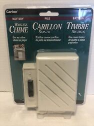 Carlon Wireless Chime 8 Sound Doorbell Pager Rc3190d Beige Read Has Torn Cover