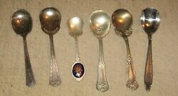 6 Vintage Spoons - Marks Include Japan Stainless, Rogers, Shelton Silverplate