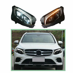 Headlight Assembly For Benz Glc 2016-2019 Hid Xenon Beam Projector Led Drl