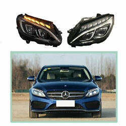 Headlight Assembly For Benz W205 2015-2020 Full Led Beam Projector Led Drl
