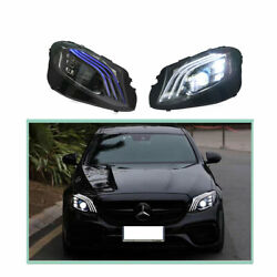 Headlight Assembly For Benz W213 2016-2020 Full Led Beam Projector Led Drl