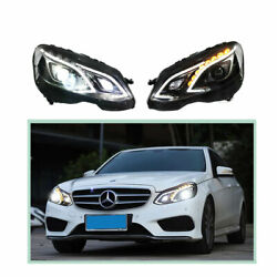 Headlight Assembly For Benz E-class 2015 Hid Xenon Beam Projector Led Drl