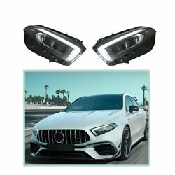 Headlight Assembly For Benz A-class 2019-2020 Hid Xenon Beam Projector Led Drl