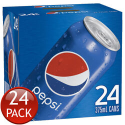 24 X Pepsi Cola Cube 375ml Carbonated Soda Refreshment Soft Drinks Beverages