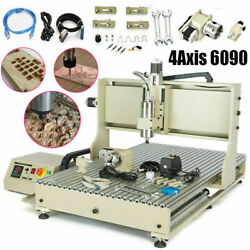 Usb 4axis Cnc 6090 Router Engraver Milling Cutter Ball Screws Engraving Machine