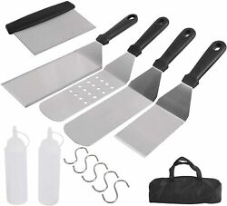 Grill Accessories Set,12pc Griddle Barbecue Tool Kit Spatula Scraper Outdoor Bbq