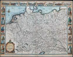 1627 A Newe Mape Of Germany By John Speed Map George Humble Austria Poland