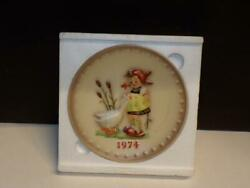 Hummel Goebel 4th Annual Plate Goose Girl 1974 Size 7.5 Inch Mint