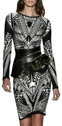 Bnwt Herve Leger Black White Elaine Embellished Body Con Dress S Small Andpound2500 New