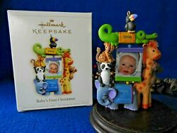Challmark Ornament 2006 Baby's First 1st Christmas Photo Frame Zoo Animals
