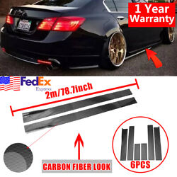 78.7and039and039 Carbon Fiber Side Skirt Extension Splitter Diffuser Panel Lip Universal