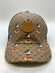 X Disney Mickey Mouse Collaboration Baseball Cap Hat Size L From Japan