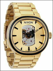 Nixon A089-510 Capital Automatic Stainless Steel 37mm Unisex Gold Watch